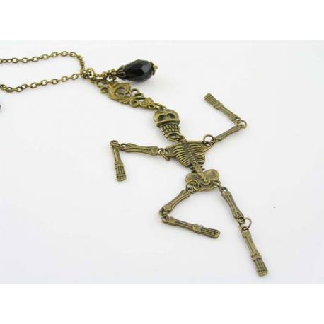 Large Movable Skeleton Necklace