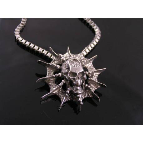 Large, Solid Skull Necklace