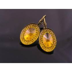 Sparkling Yellow Earrings