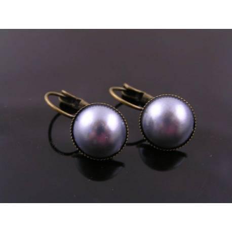 Peach Pearl Sleeper Earrings