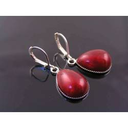 Vintage Red Teardrop Earrings