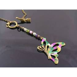 Large Colourful Butterfly Necklace