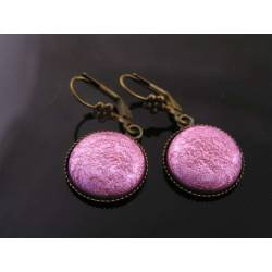 Vintage Pink Circle Earrings