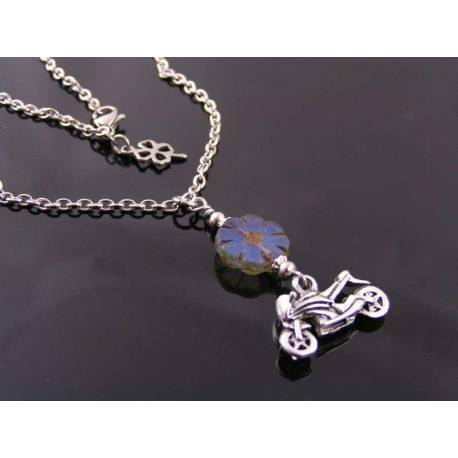 Motorcycle Necklace, Sportsbike Necklace
