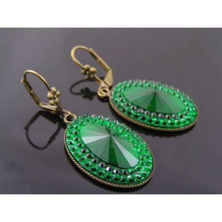 Sparkling Green Earrings