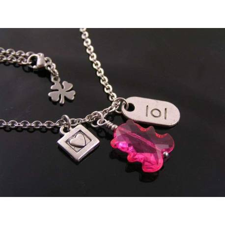 Fun Charm Necklace, Gift for Girls