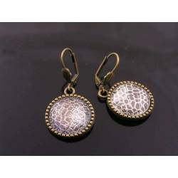 Snake Skin Cabochon Earrings