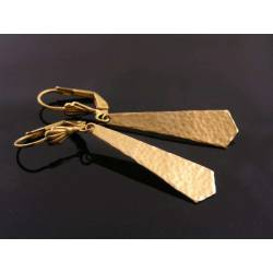 Hand Hammered Tie Earrings