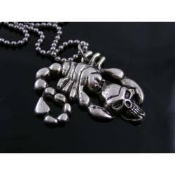 Gothic Skull Scorpio Necklace
