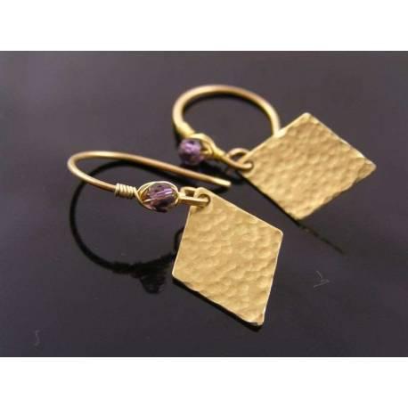 Handmade Hammered Earrings