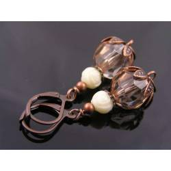 Copper Acrylic Earrings