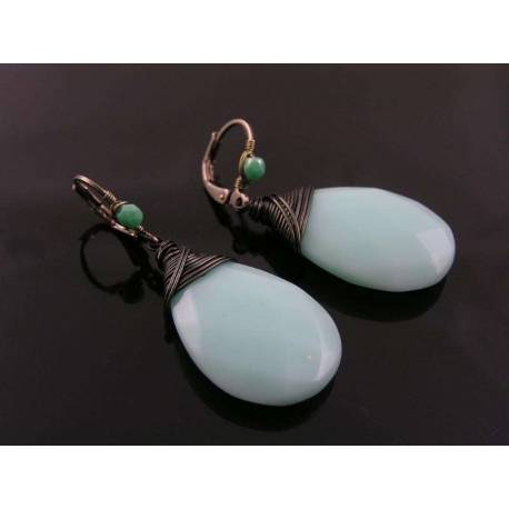 Aqua Earrings, Gunmetal