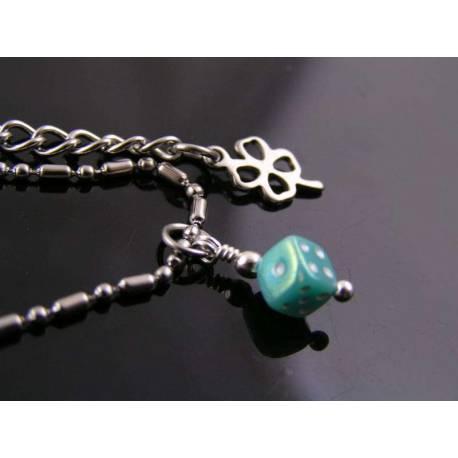 Cutest Dice Necklace, Good Luck Jewellery