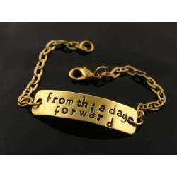 Inspirational Bracelet, 'From this day forward'