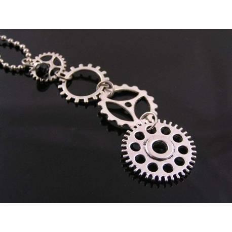 Gear Wheel or Cog Necklace