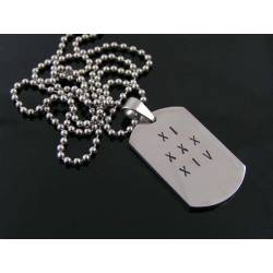 Stainless Steel Dog Tag Necklace, Personalised, 3 Sizes to Choose From
