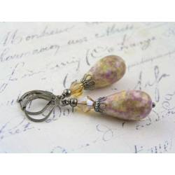 Old Fashioned Lavender Drop Earrings