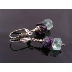 Carved Fluorite Earrings