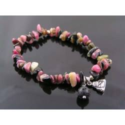 Tourmaline Bracelet with Buddha Charm