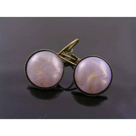 Lavender Cuff Earrings