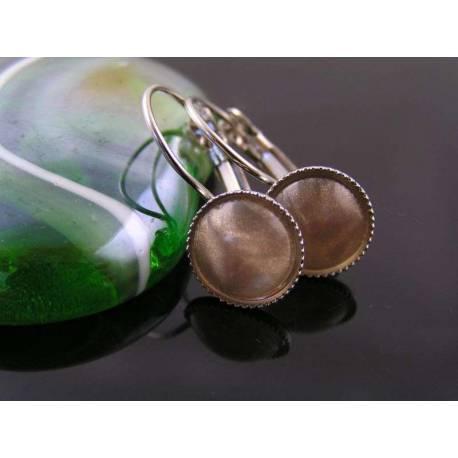Champagne Silver Earrings