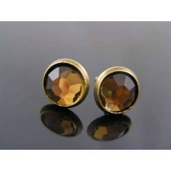 Topaz Crystal Stud Earrings