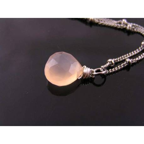 Peach Chalcedony Necklace