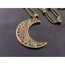 Lead-Glass Moon Necklace