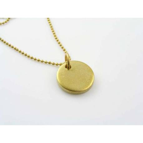 Solid Initial Necklace, Unisex