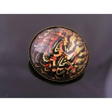 Colourful Circlular Brooch