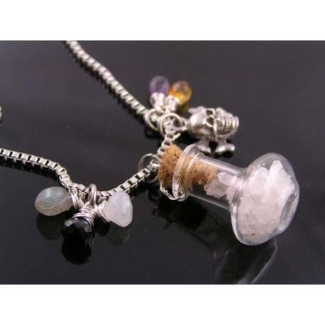 Supernatural Necklace, Glass Vial with Salt