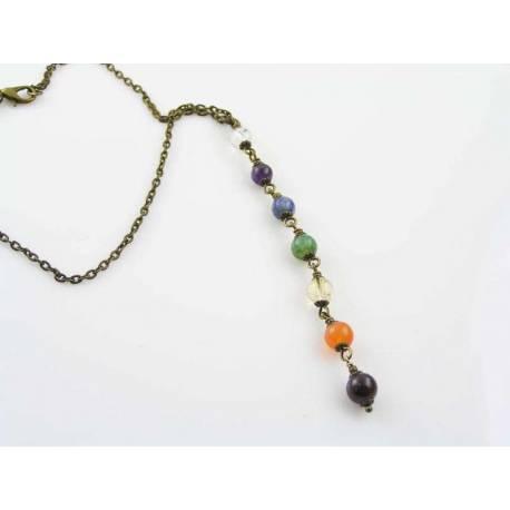 Wire Wrapped Chakra Gemstone Necklace