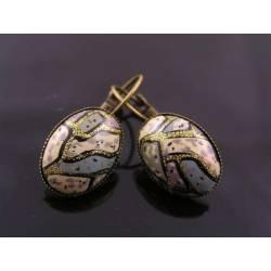 Vintage Cabochon Earrings