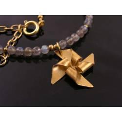 Pinwheel and Labradorite Necklace