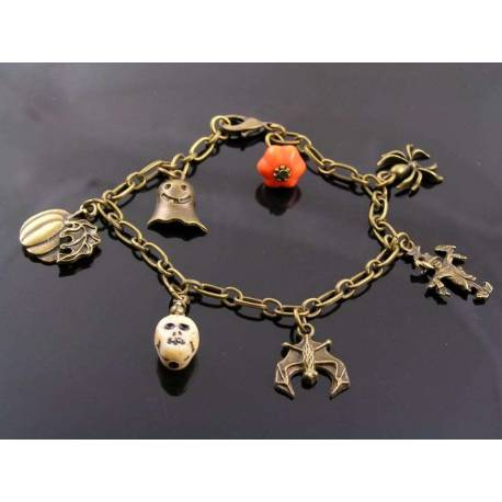 Halloween Charm Collection Bracelet