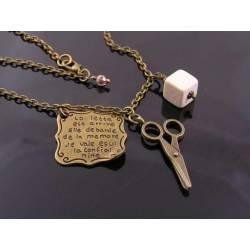 Rock, Paper, Scissors Necklace