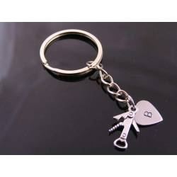 Personalised Key Ring, Fun Charm