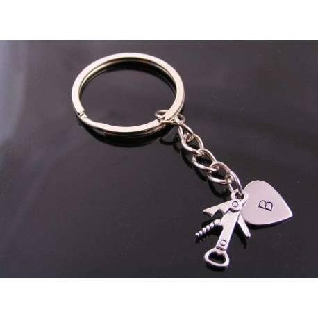 Personalised Key Ring, Fun Charm