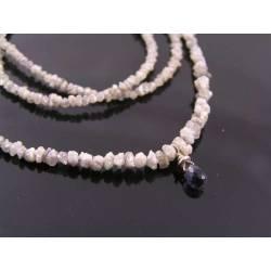 Rough Diamond Necklace with Iolite
