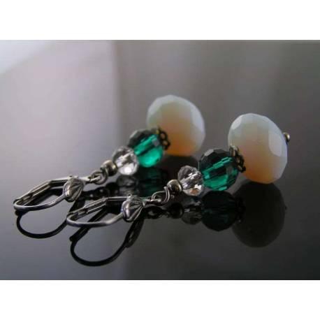 Opalite and Crystal Earrings