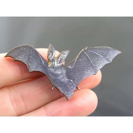Wooden Bat Brooch