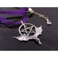 Bat Wing Pentagram Necklace