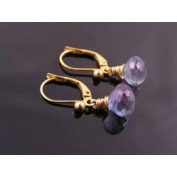 Mystic Blue Quartz Earrings