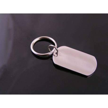 Cute Dog Tag Key Ring, Personalized