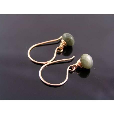 Teapot Earrings, Czech Glass