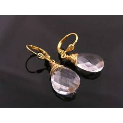 Faceted Acrylic Earrings in Gold