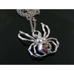Crystal Set Spider Necklace, Large