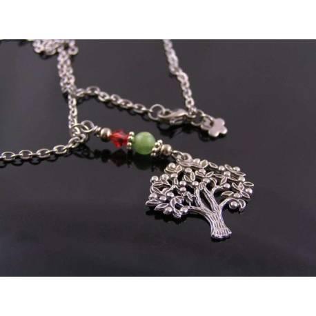 Tree of Life Necklace, Australian Chrysoprase