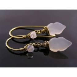 Carved Moonstone Earrings