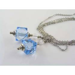 Blue Cube Necklace